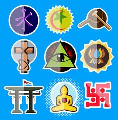 Set of Spiritual Religious Symbols
