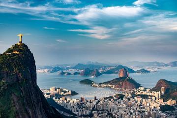 Türaufkleber Brasilien Rio De Janeiro Aerial