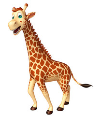 walking Giraffe cartoon character