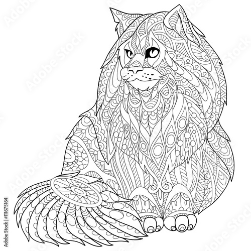 chester the cat coloring pages - photo#28