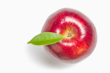 Apple top view, Red apple, white background