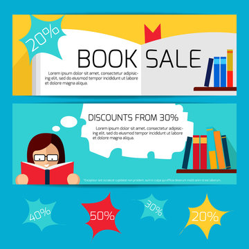 Book Sale Horizontal Banners