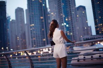 Luxury travel vacation woman.