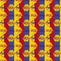 Seamless vector pattern for football championship 2016.