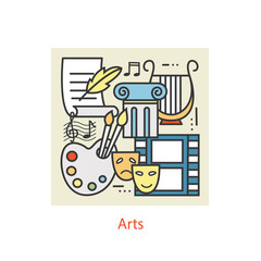 Modern thin line icons of Art.