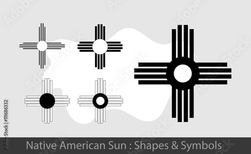 Native American Sun Symbols Stock Image And Royalty Free Vector