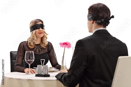 Fat girl dating blind guy