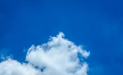 Cloud and blue sky in rainy season.(Soft focus.)