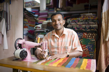 A tailor, India.