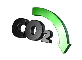 CO2 with down arrow