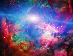Spoed Fotobehang Heelal Galactic Space Elements of this image furnished by NASA