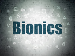 Science concept: Bionics on Digital Data Paper background