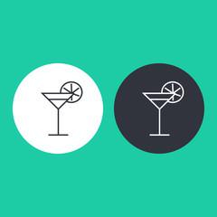 Thin line beverage icon