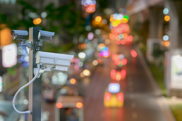 cctv camera surveillance driving operating on at night road to protection outdoor and serve transportation