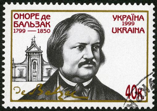 UKRAINE - 1999: Honore de Balzac (1799 -1850), French novelist