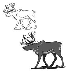 Grey deer (contour)