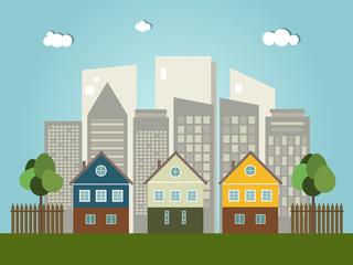 Colorful City, Real Estate Concept