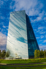 FRANKFURT, GERMANY - SEPTEMBER 19 2015 : New headquarters of Eur