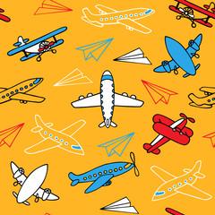 Seamless pattern of aircraft