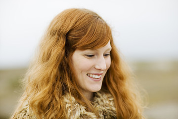 Portrait of a young Scandinavian girl, Sweden.