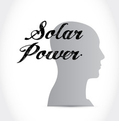 solar panel mind sign concept