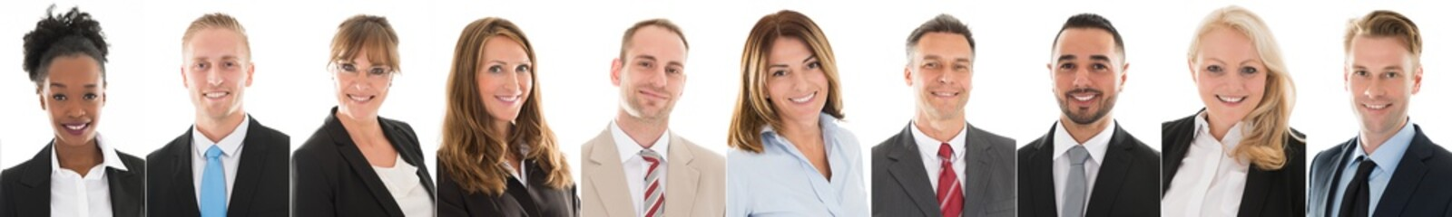 Set Of Smiling Businesspeople