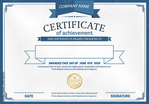 Certificate template vector illustration design blue modern certificate template vector illustration design blue modern certificate yadclub Images
