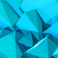 Poster with abstract blue ice cubes