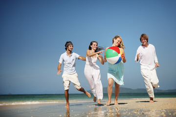 Friend Group Togetherness Beach Party People Concept