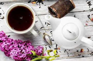 Fototapete - Brewed herbal tea