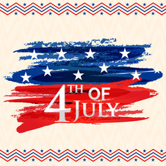 Greeting Card for 4th of July celebration.