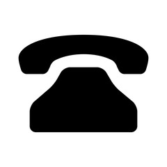 Vintage, retro, classic landline telephone call flat icon for apps and websites
