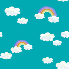 パターン・虹と雲