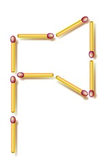 Move four matchsticks to make from ax 3 identical triangles. Logic puzzle. Vector image.