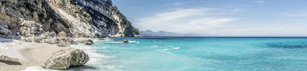 A view of Cala Goloritze beach, Baunei, Sardinia, Italy