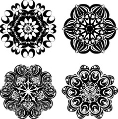 Set Mandalas. Round Ornament Pattern. Vector illustration