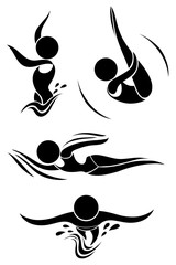 Icons design of people doing sports
