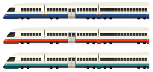 Speed train in three colors