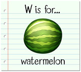 W Is For Watermelon Stock Images RoyaltyFree Images