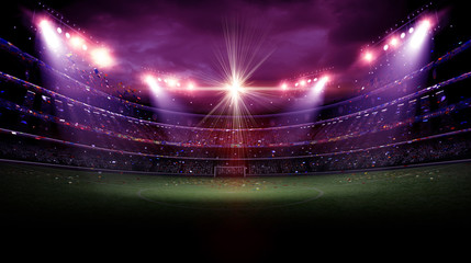Wall Mural - stadium light at night