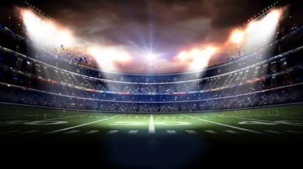 American stadium at night