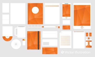 Corporate identity template set. Business stationery mock-up