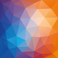 Multicolored low polygon mosaic background, vector design, creative background, templates design