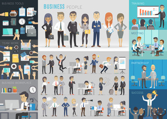 Business people set.