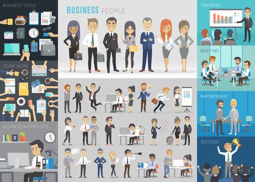 Business people set.