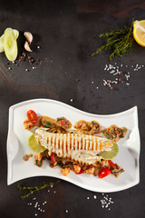 Fillet of Seabass with Vegetables