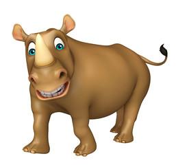 funny Rhino cartoon character