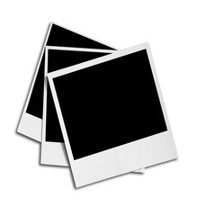 Photo frame isolated on white background Clipping Path.