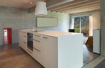 Interior, modern kitchen island