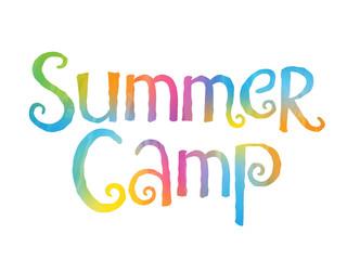 """""""SUMMER CAMP"""" watercolour banner"""